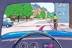 welches verhalten ist richtig ich muss den radfahrer durchfahren lassen